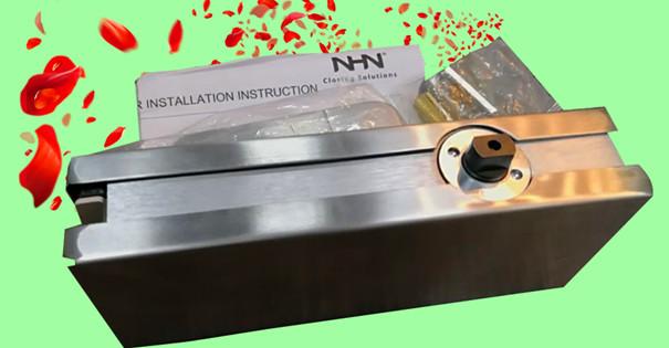 NHN无框玻璃门地弹簧