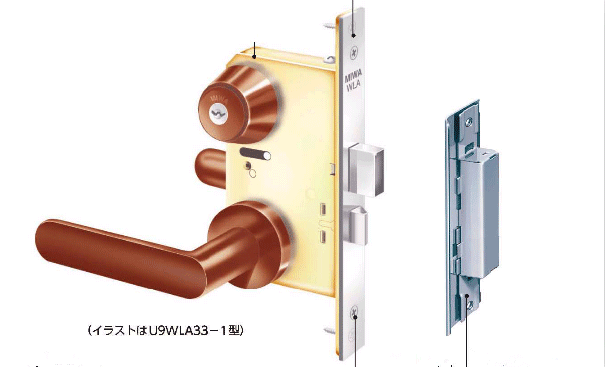 日本MIWA木制门执手锁