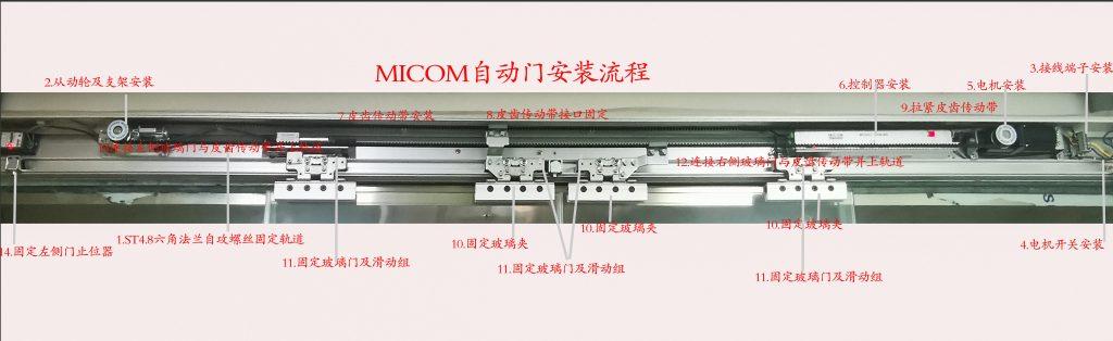 MICOM自动门机组安装流程
